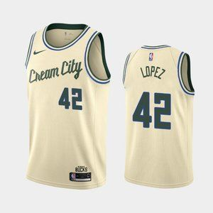 Milwaukee Bucks #42 Robin Lopez Jersey